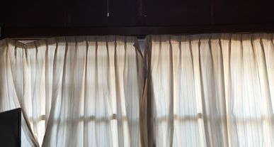 古いカーテンレール