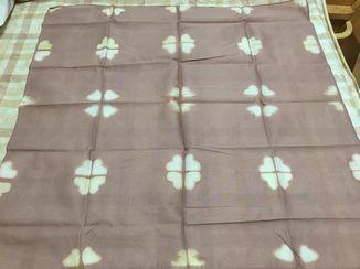 草木染でスカーフ