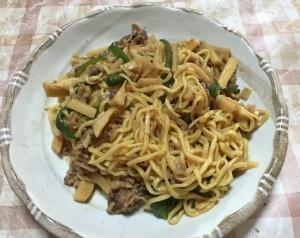 チンジャオロース冷し麺