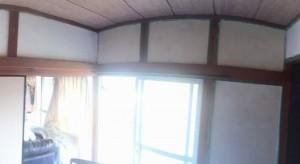 漆喰を塗った後和室